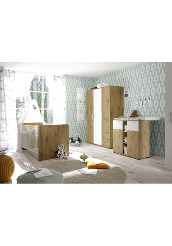 Begabino Babyzimmer-Komplettset »Bibo«, (Set, 3 St.), Bett + Wickelkommode + 3-trg.... kaufen