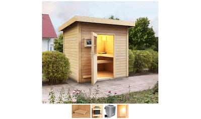 Karibu Saunahaus »Ralf«, 9-kW-Bio-Ofen mit ext. Steuerung kaufen