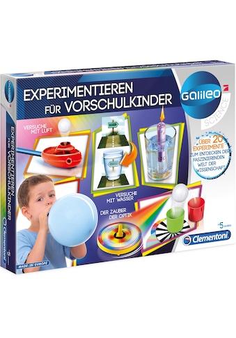 """Clementoni® Experimentierkasten """"Galileo  -  Experimentieren für Vorschulkinder"""" kaufen"""