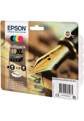 Epson Tintenpatrone »T1636, 16XL Original Kombi-Pack Schwarz, Cyan, Magenta, Gelb... kaufen