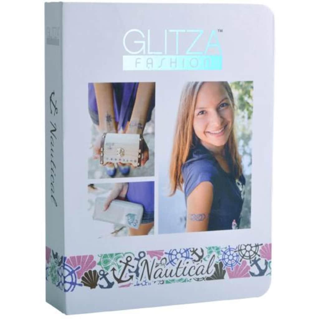 Knorrtoys® Kreativset »GLITZA FASHION Deluxe Set Nautical«, (Set), Für alle Oberflächen geeignet