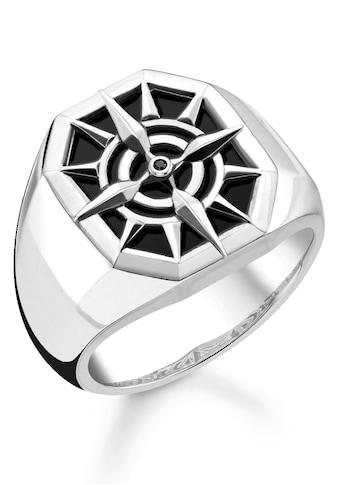 THOMAS SABO Silberring »Kompass, TR2274-641-11-52, 54, 56, 58, 60, 62, 64, 66, 68«,... kaufen