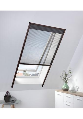 hecht international Insektenschutz-Dachfenster-Rollo, braun/anthrazit, BxH: 80x160 cm kaufen