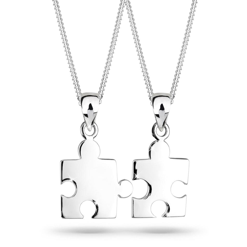 Elli Ketten-Set »Partnerketten Puzzle 925 Sterling Silber«