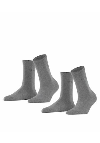 Esprit Socken »Uni 2-Pack«, (2 Paar), aus elastischem Material kaufen