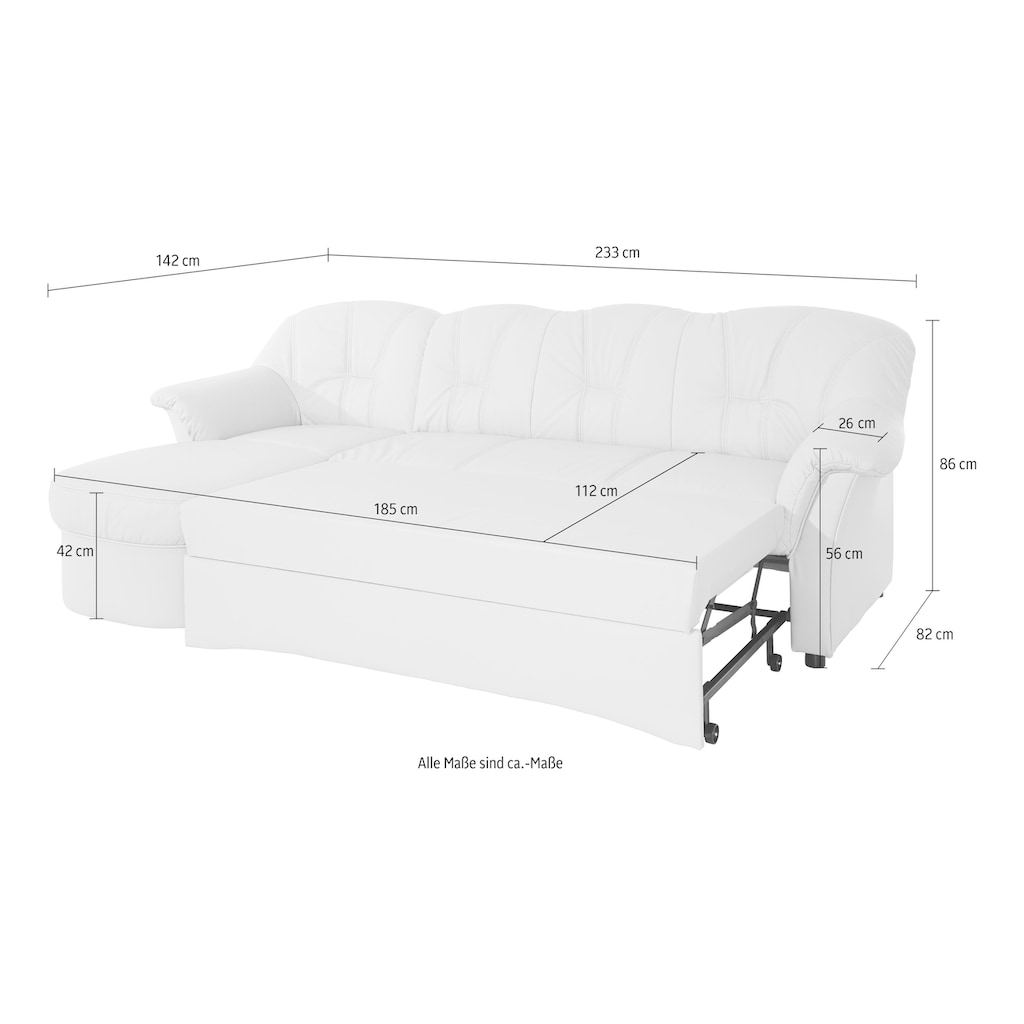 DOMO collection Ecksofa »Flores Top«, wahlweise mit Bettfunktion
