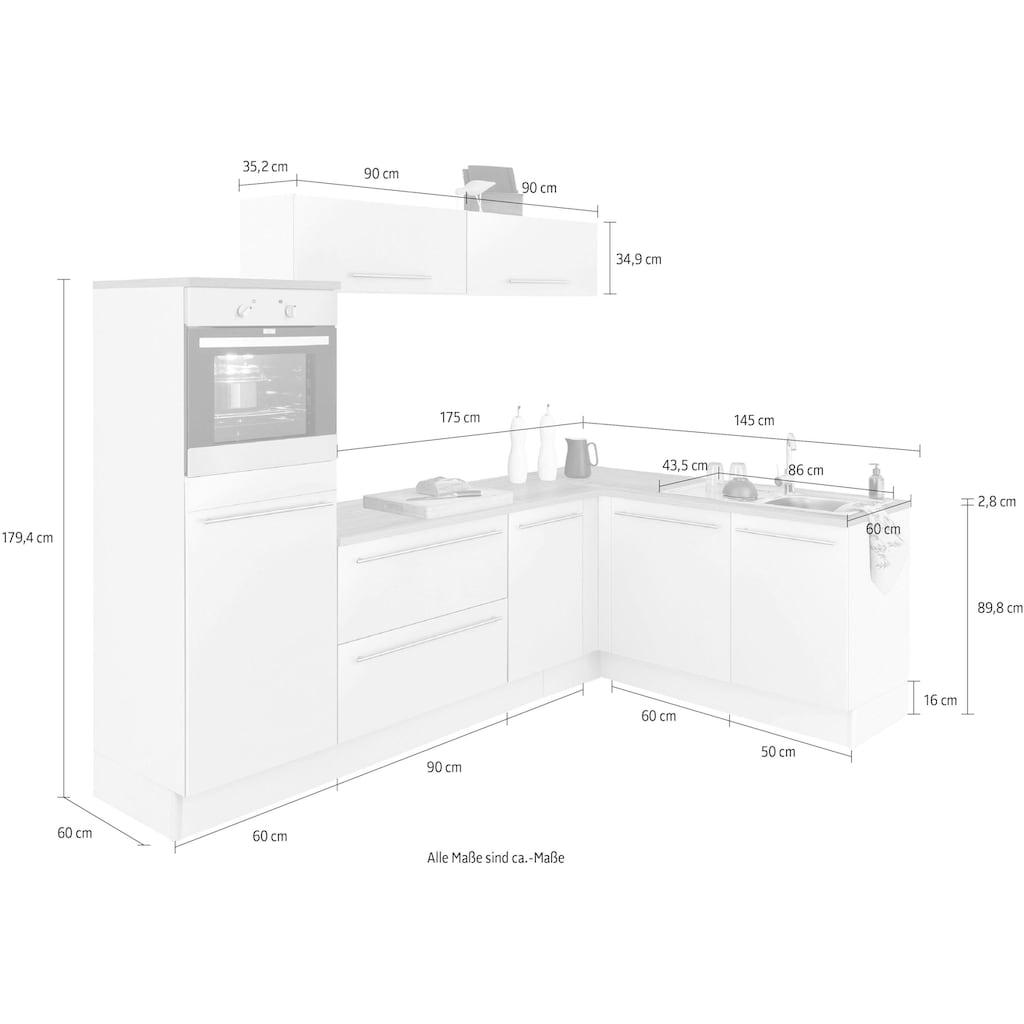 OPTIFIT Winkelküche »Bern«, ohne E-Geräte, Stellbreite 265 x 175 cm
