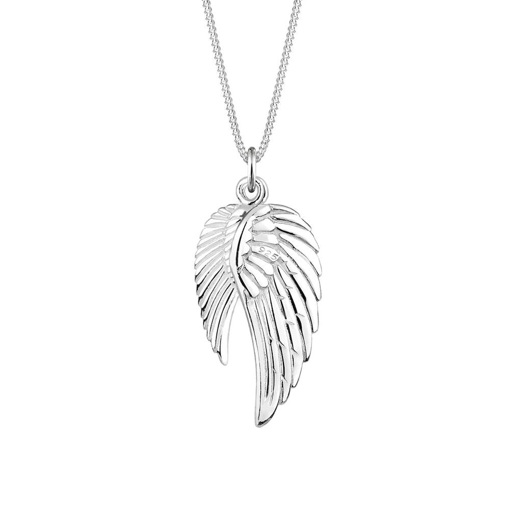 Elli Kette mit Anhänger »Doppelt Flügel Schutzengel 925 Silber«