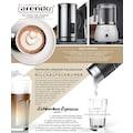 Arendo Milchaufschäumer mit abnehmbaren Glasaufsatz »MILKSTAR White«