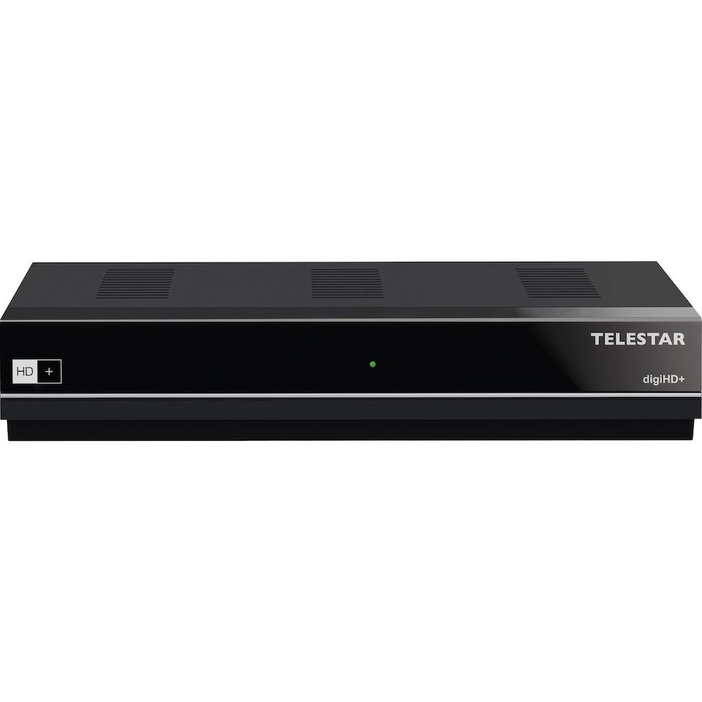 TELESTAR Satellitenreceiver »digiHD+«, (LAN (Ethernet) Software Update via Satellit-Plug & Play-Videotext-Videotextuntertitel-Kindersicherung-Installations-Assistent-EPG (elektronische Programmzeitschrift)