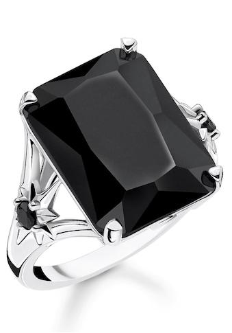THOMAS SABO Silberring »Stein schwarz groß mit Stern, TR2261-641-11-52, 54, 56, 58,... kaufen