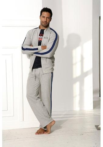H.I.S Sweatjacke, mit Streifenband an Schulter und Ärmel kaufen