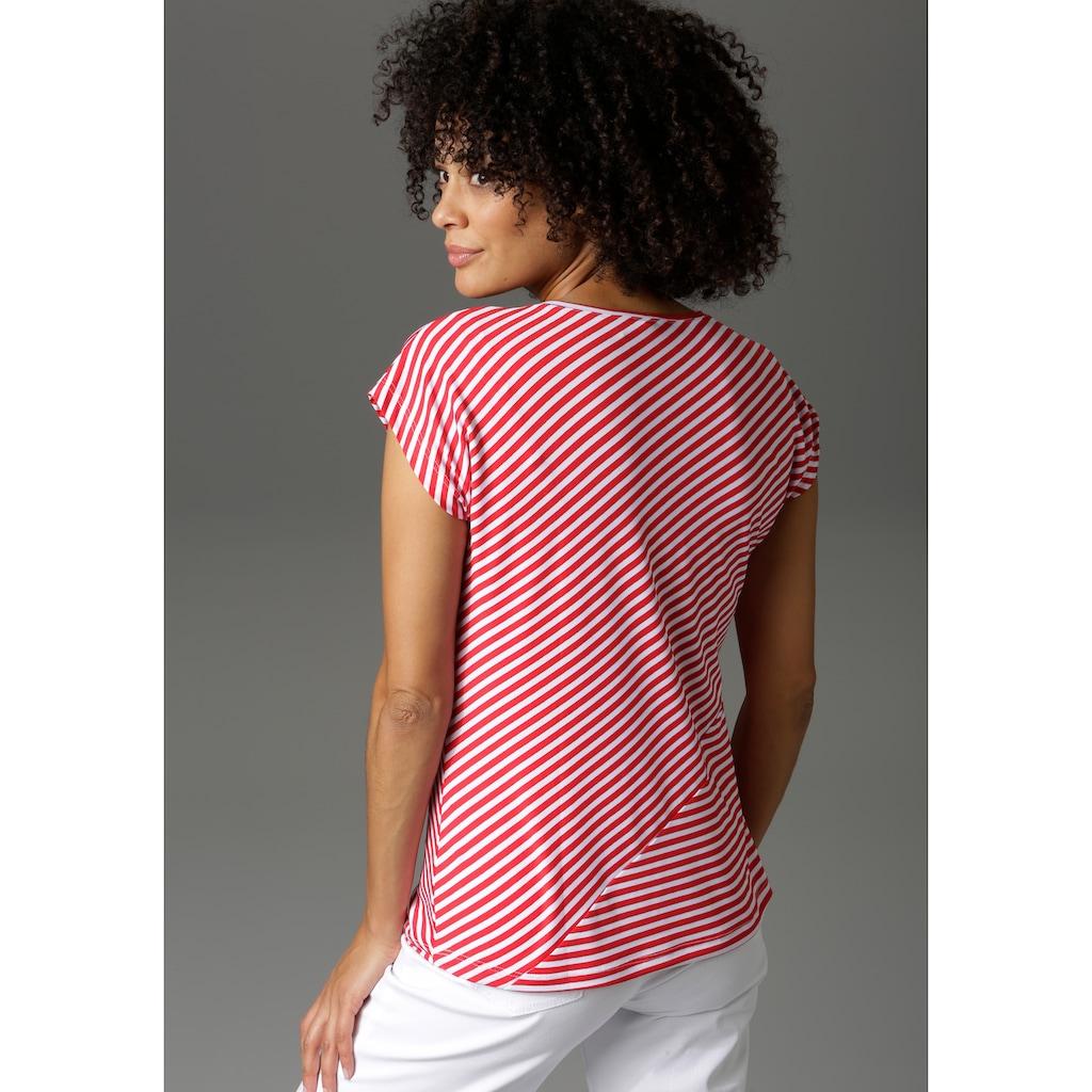Aniston CASUAL T-Shirt, im Streifen-Mix -