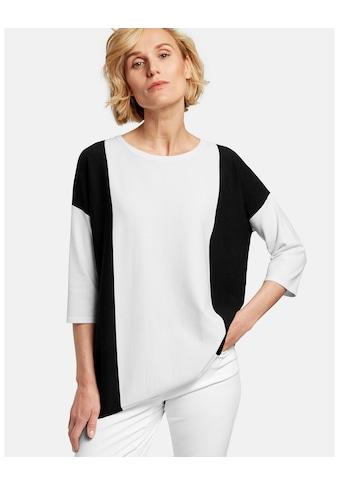 GERRY WEBER Pullover 3/4 Arm Rundhals »Asymmetrisch geschnittener Pullover« kaufen