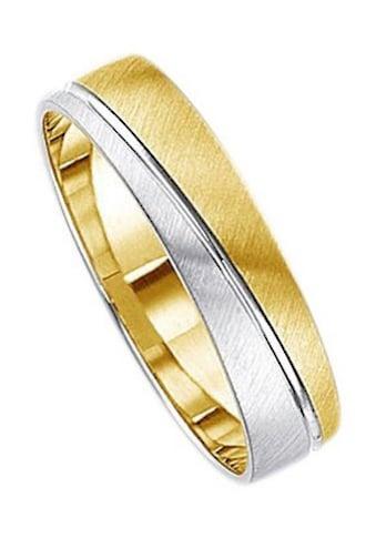 Firetti Trauring mit Gravur »5,0 mm, quer gebürstet, Diamantschnitt, bicolor« kaufen