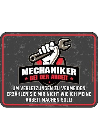 Rahmenlos Blechschild für den Mechaniker kaufen