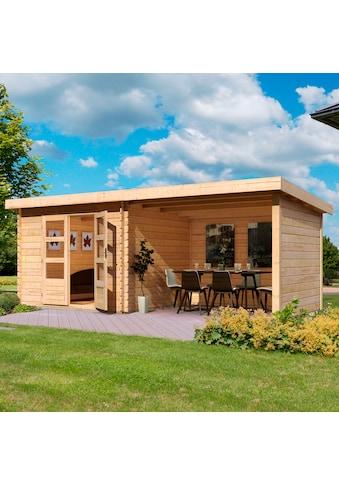 KONIFERA Set: Gartenhaus »Schloßsee 3«, BxT: 515x273 cm, mit Anbau inkl. Seiten -  und Rückwand kaufen