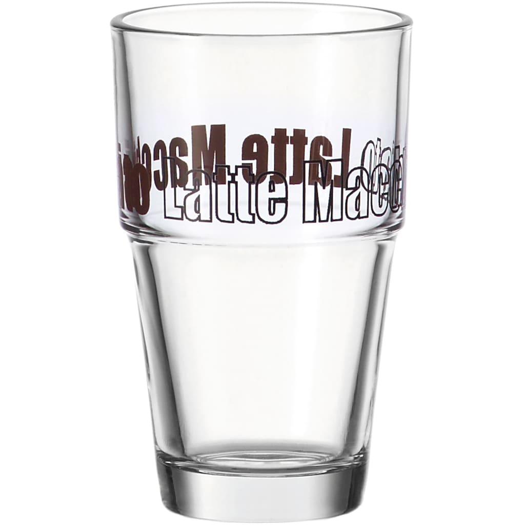 LEONARDO Latte-Macchiato-Glas »Solo«, (Set, 6 tlg.), 410 ml, 6-teilig