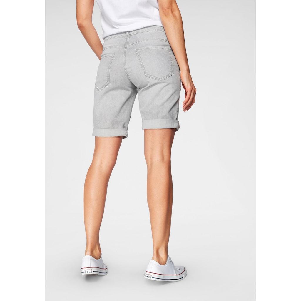 MAC Jeansbermudas »Shorty Summer Clean«, Shorts mit krempelbarem Saum