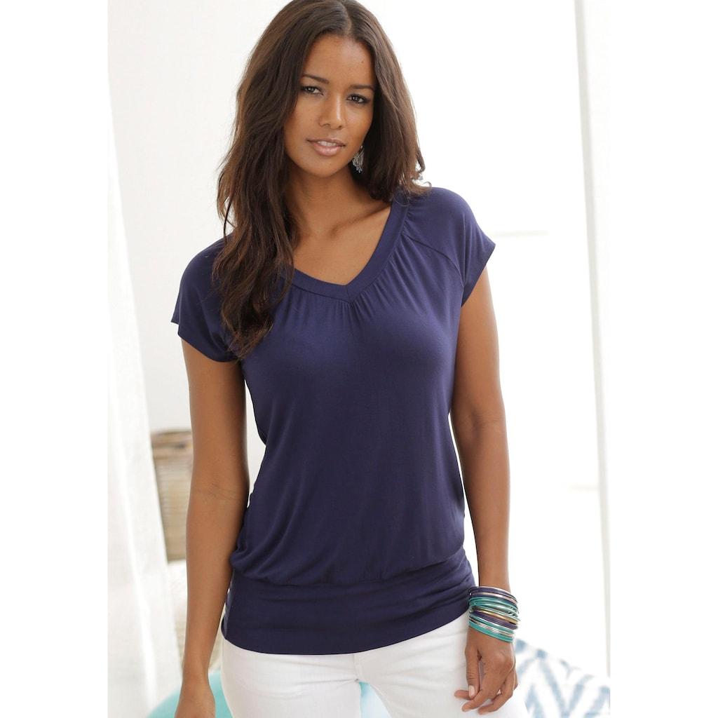 LASCANA T-Shirt, mit breitem Bund