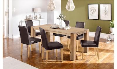 Home affaire Essgruppe »Silje«, (Set, 7 tlg.), bestehend aus 6 Lucca Stühlen und dem... kaufen