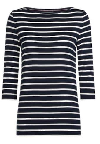 TOMMY HILFIGER Poloshirt »HERITAGE BOAT NECK TEE« kaufen