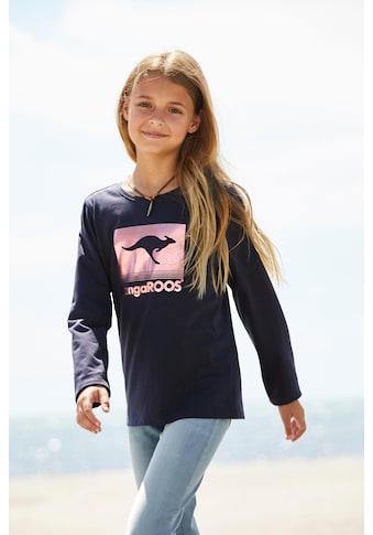 KangaROOS Langarmshirt, mit Foliendruck kaufen