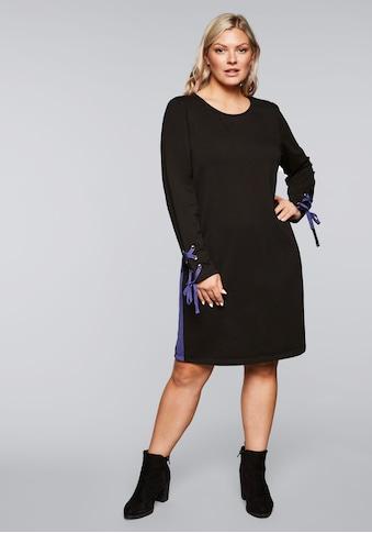 Sheego Sweatkleid, mit Kontrastdetails kaufen