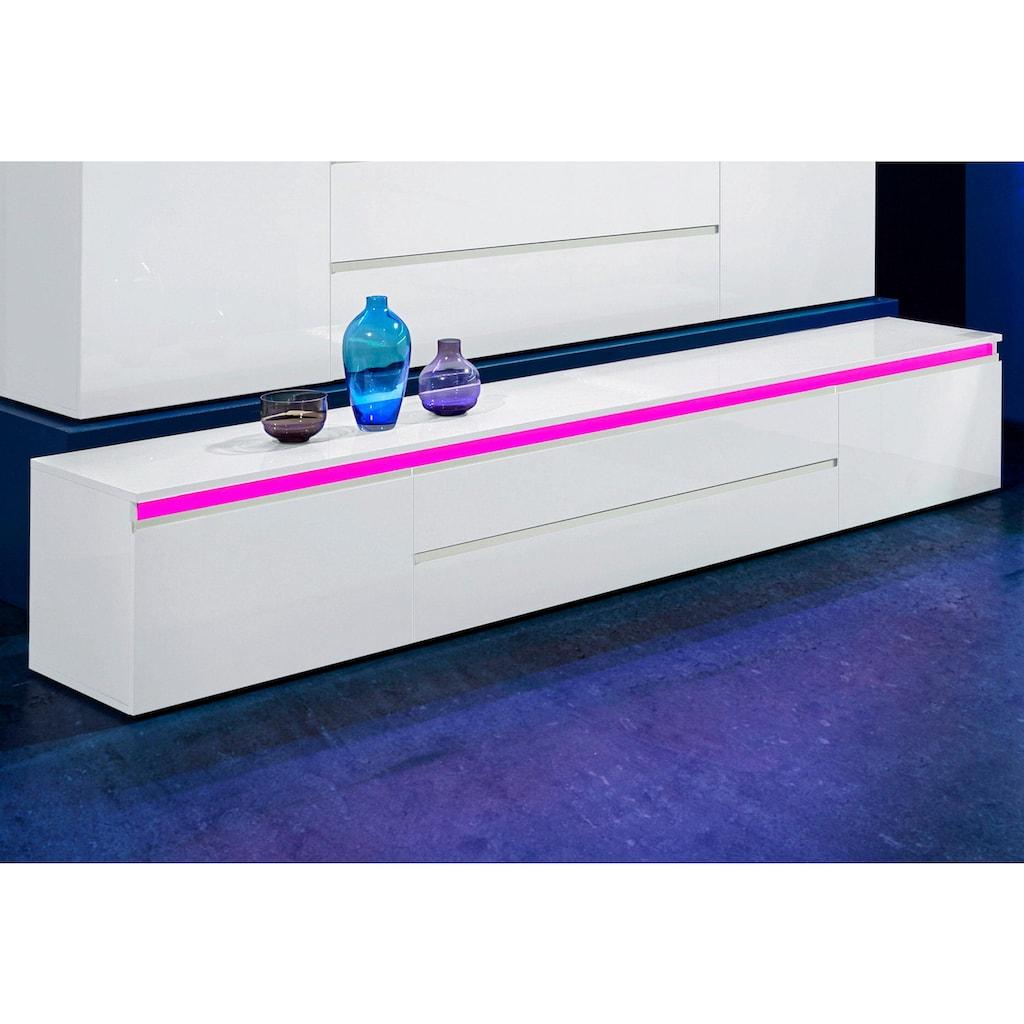 Tecnos Lowboard »Magic«, Breite 240 cm, ohne Beleuchtung