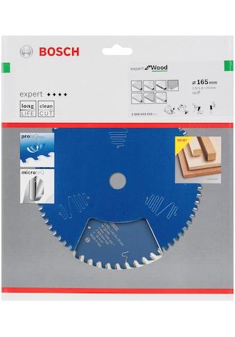 BOSCH Kreissägeblatt »Kreissägeblatt Expert for Wood«, 165 x 20 x 2,6 mm, 48 kaufen