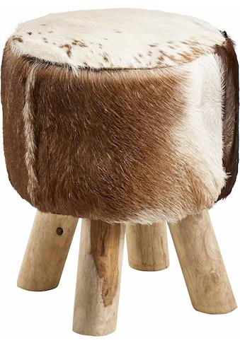 Home affaire Hocker »Kuhfell«, mit Holzbeinen kaufen