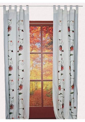 Vorhang, »Fuschlsee«, HOSSNER  -  ART OF HOME DECO, Schlaufen 1 Stück kaufen