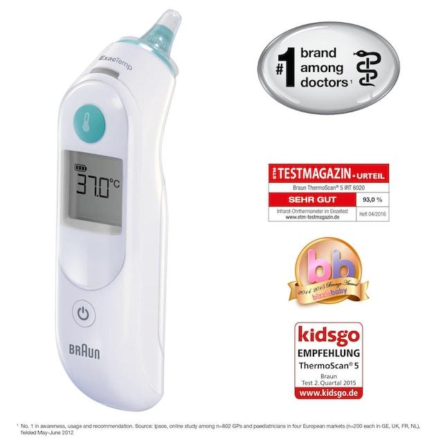 """Braun Ohr-Fieberthermometer """"ThermoScan 5 IRT6020"""""""