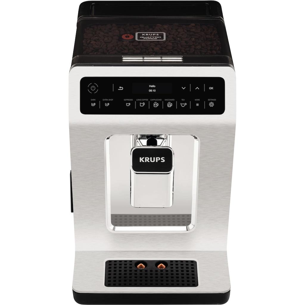 Krups Kaffeevollautomat EA891C Evidence Chrome Espresso-Vollautomat, 2,1l Tank, Kegelmahlwerk