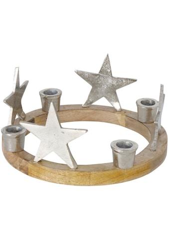 BOLTZE Kerzenhalter »Hemlund«, Adventsleuchter, 4-flammig, Ø ca. 26 cm kaufen
