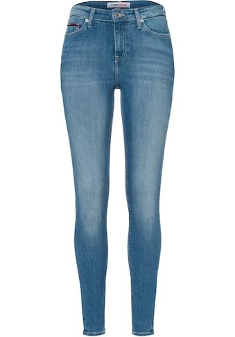 Tommy Jeans Skinny-fit-Jeans »NORA MR SKNY BE163 BBKST«, mit Tommy Jeans Logo-Badge kaufen