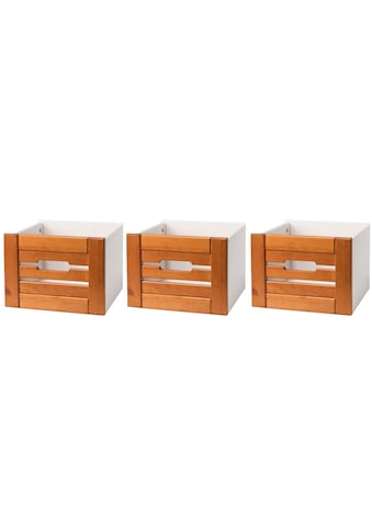 WELLTIME Set: Aufbewahrungsbox »Venezia Landhaus«, 3 Stück, aus Massivholz Kiefer kaufen
