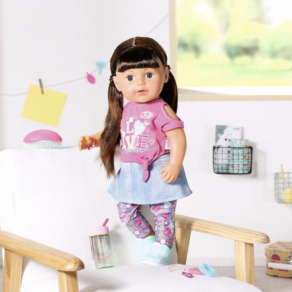 Baby Born Stehpuppe »Soft Touch Sister 43ch, brünett«, interaktiv