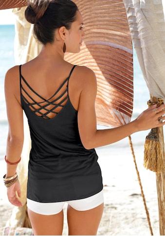 LASCANA Strandtop, mit gekreuzten Bändern kaufen