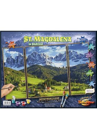 Schipper Malen nach Zahlen »Meisterklasse Triptychon, St. Magdalena in Südtirol«, Made in Germany kaufen