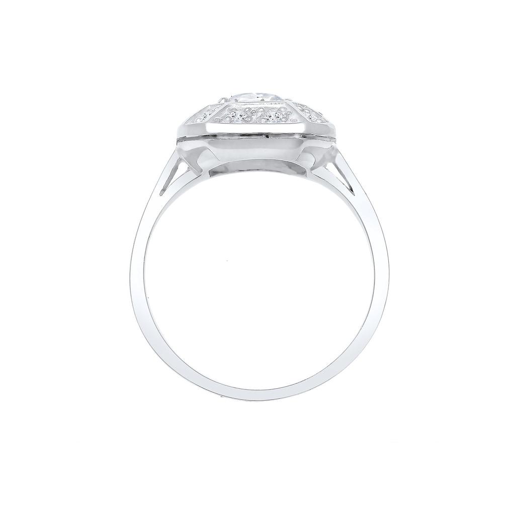 Elli Fingerring »Verlobungsring Glamour Funkelnd Topas 925 Silber«