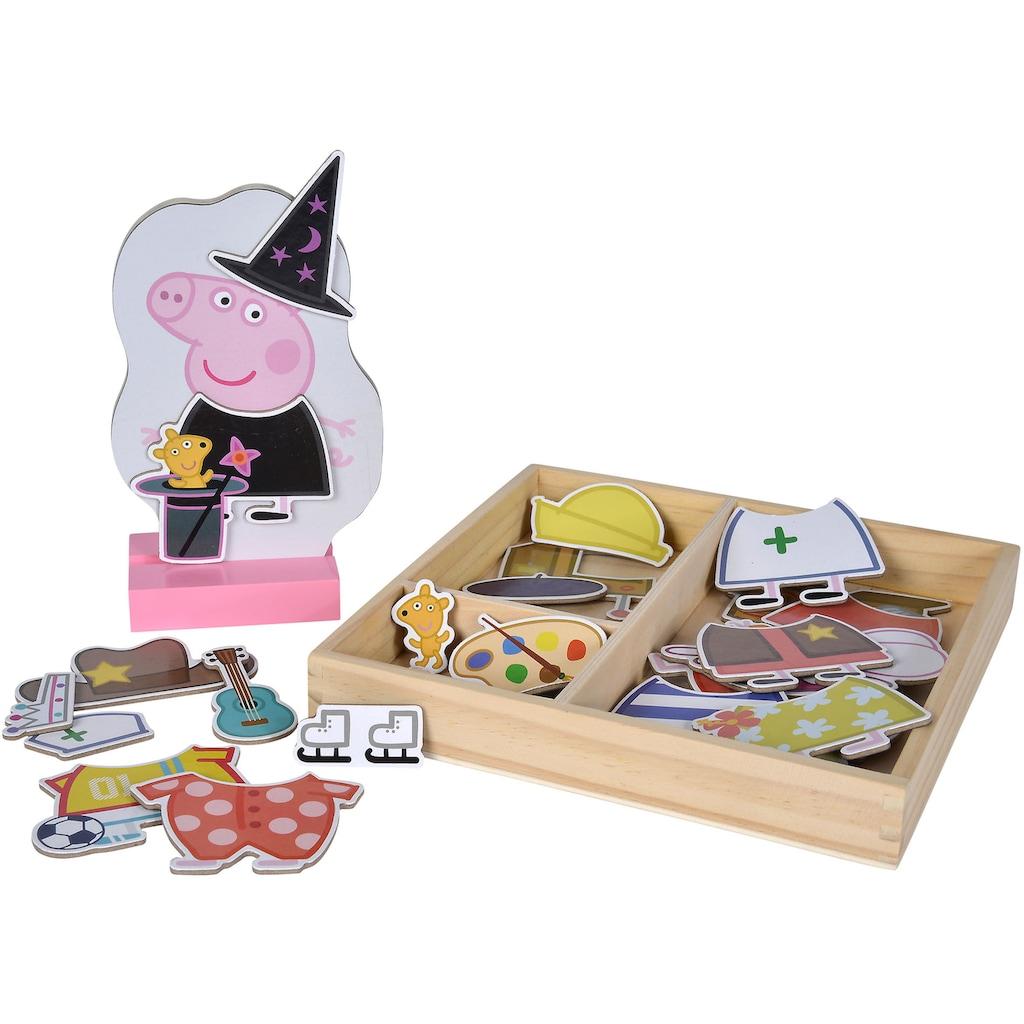 Eichhorn Puzzle »Peppa Pig magnetisches Umzieh-Puzzle«, FSC®-Holz aus gewissenhaft bewirtschafteten Wäldern