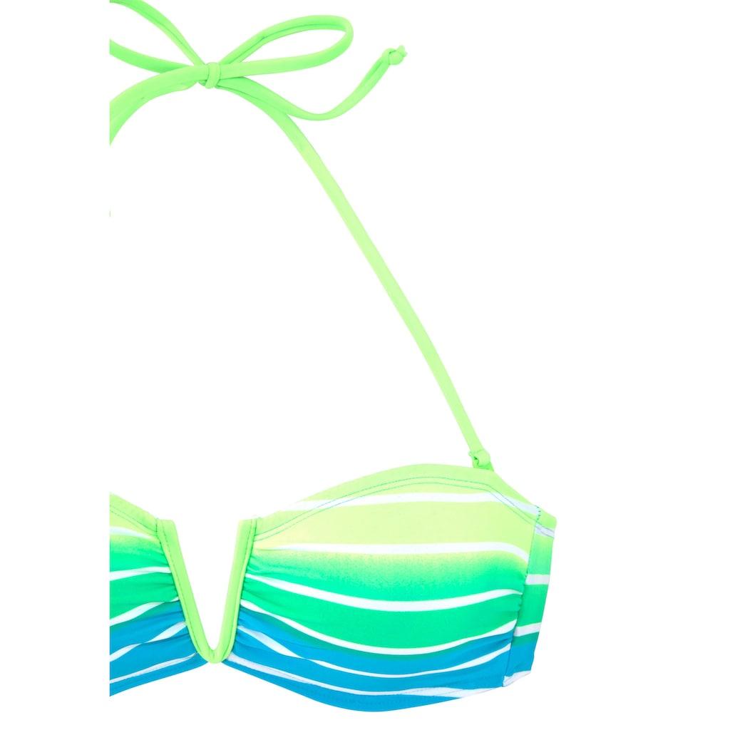 Venice Beach Bandeau-Bikini, mit Farbverlauf