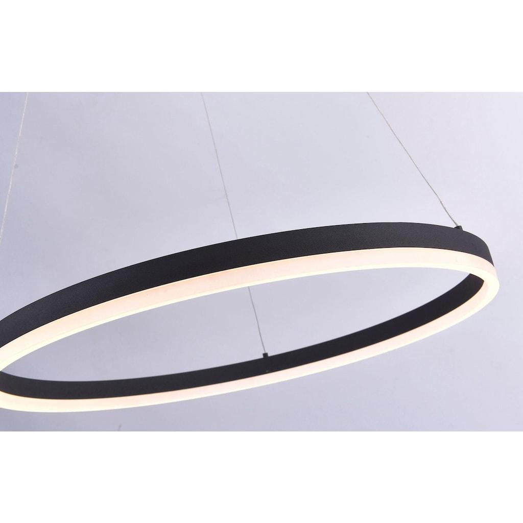 Paul Neuhaus Pendelleuchte »TITUS«, LED-Board, Warmweiß, Hängeleuchte, stufenlos dimmbar, mit fest integriertem LED-Leuchtmittel, Memoryfunktion, 60 cm Durchmesser
