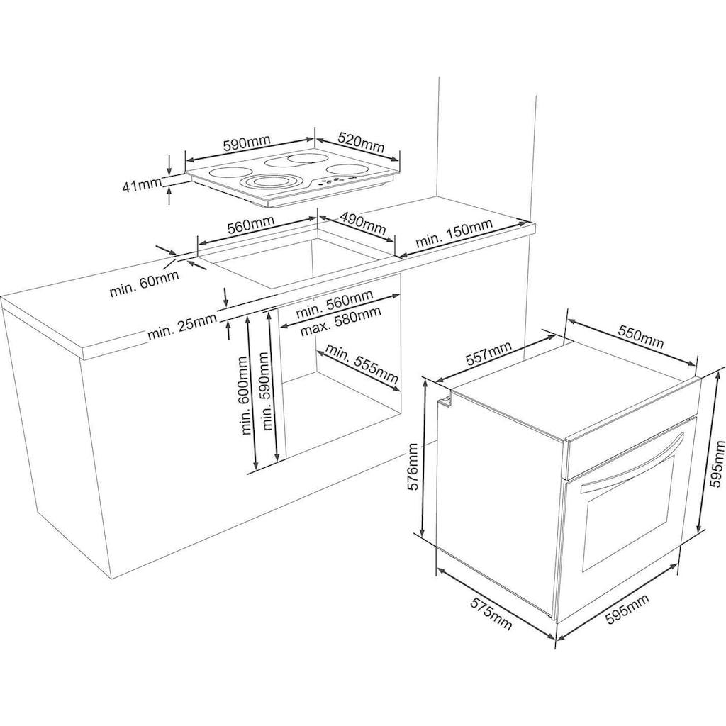 VESTEL Elektro-Herd-Set »VEH14016-1 + VEK24036«