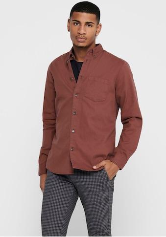 ONLY & SONS Langarmhemd »BRYCE LIFE REG ORGANIC SHIRT« kaufen