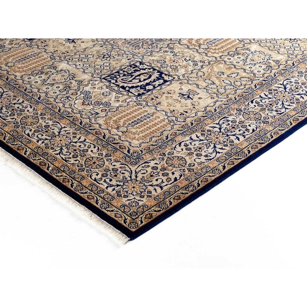 OCI DIE TEPPICHMARKE Orientteppich »Vasuki«, rechteckig, 4 mm Höhe, handgeknüpft, mit Fransen, Wohnzimmer