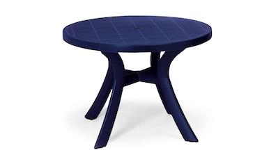 BEST Gartentisch »Kansas«, Kunststoff, Ø 100 cm, blau kaufen