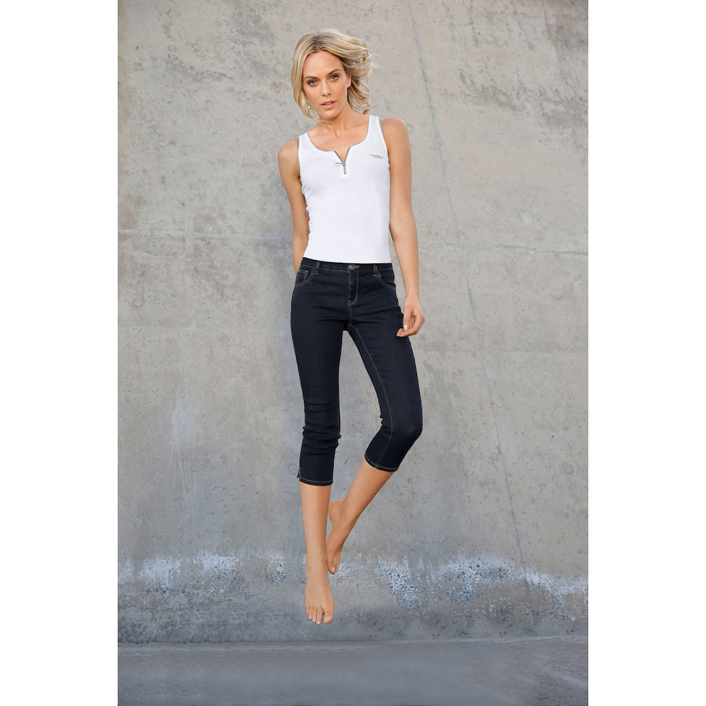 Arizona Caprijeans »Ultra-Stretch«, Mid-Waist