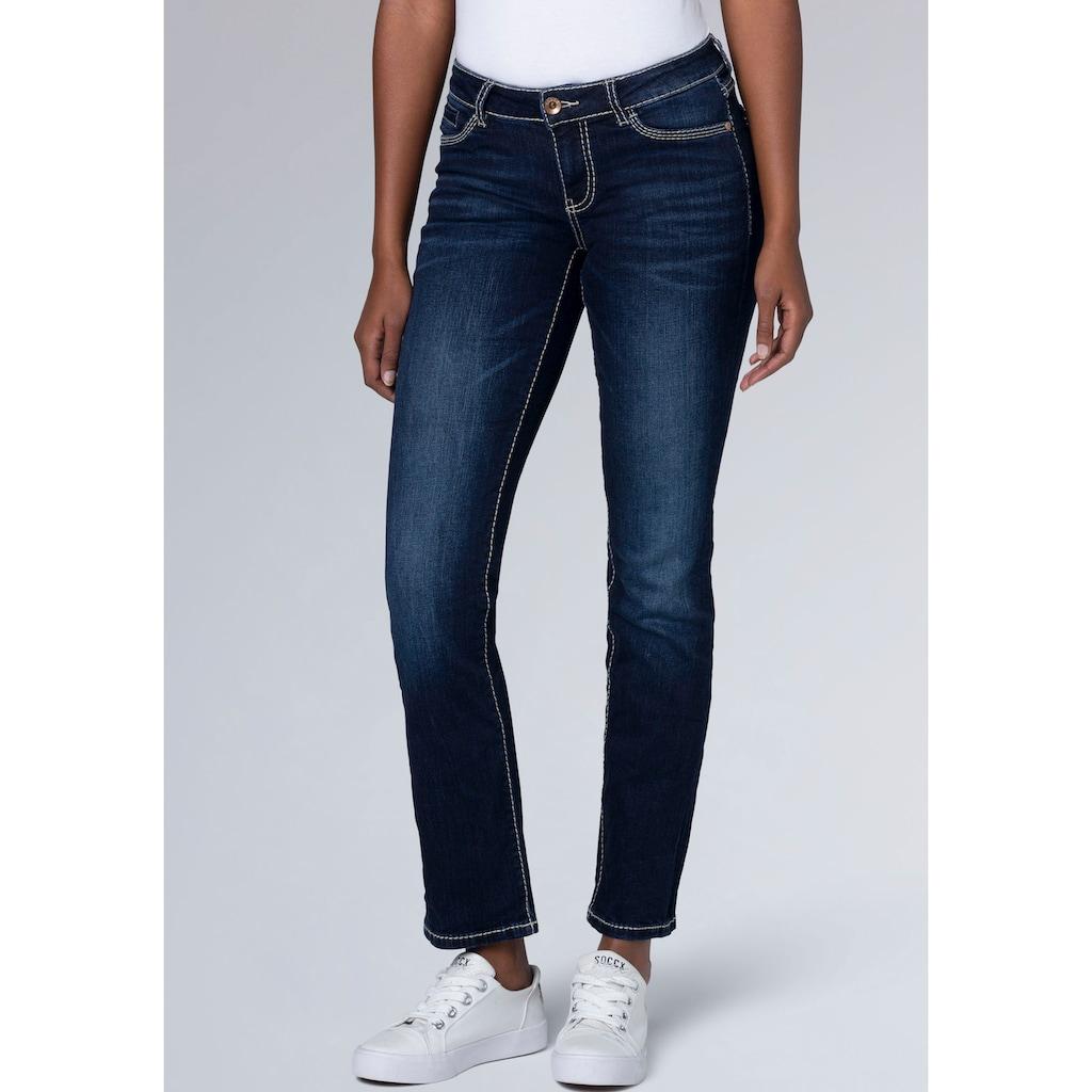 SOCCX Slim-fit-Jeans »RO:MY«, mit hellen Nähten